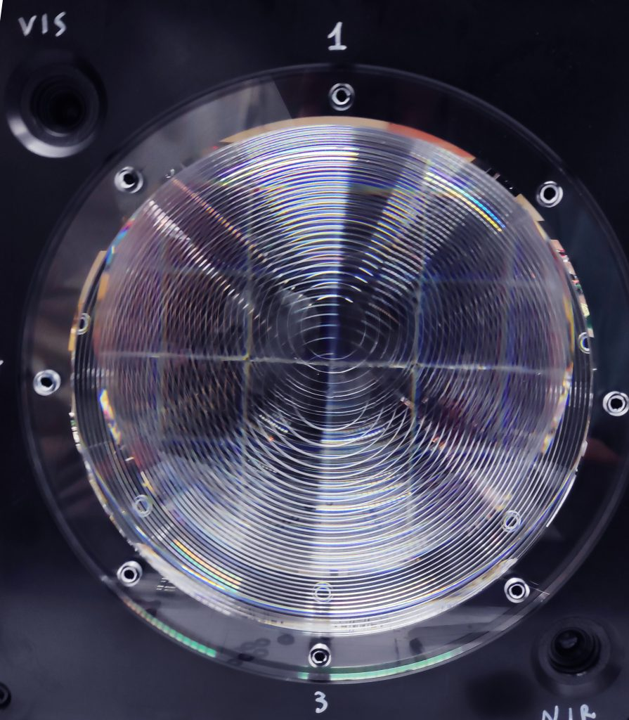 The front Fresnel lens of Mini-EUSO