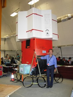 The EUSO-Balloon payload in Timmins (CA).